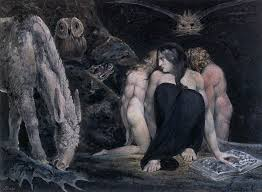 Hecate - whose three heads look to the past, the present and the future and is the Goddess of those who have yet to find their way
